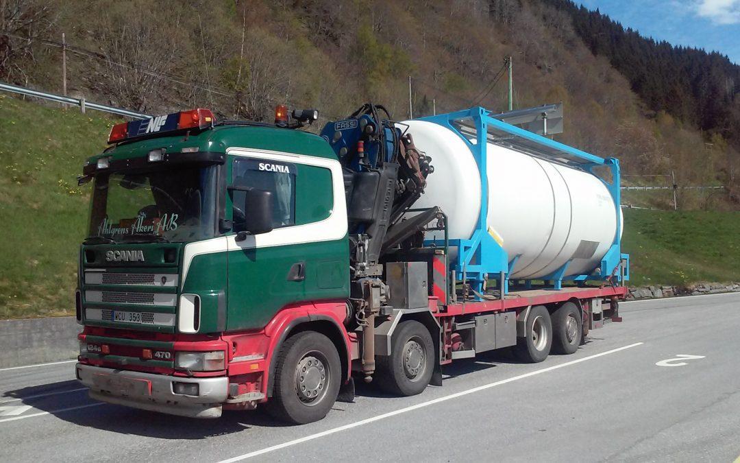 Scania 124G 8X2 470 Kranbil